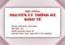 Bài giảng Nguyên lý thống kê kinh tế: Chương 1 - ThS. Nguyễn Văn Phong
