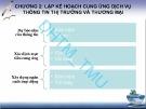 Bài giảng Quản trị các tổ chức dịch vụ thông tin thị trường và thương mại: Chương 2 - ĐH Thương mại