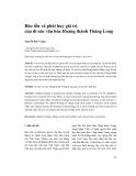 Bảo tồn và phát huy giá trị của di sản văn hóa Hoàng thành Thăng Long