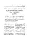 Đề xuất lựa chọn phương pháp nghiên cứu đánh giá giá trị kinh tế các hệ sinh thái biển Việt Nam