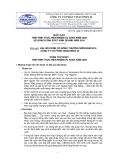 Báo cáo Tình hình thực hiện nhiệm vụ SXKD năm 2009, kế hoạch sản xuất kinh doanh năm 2010