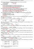 Câu hỏi và bài tập trắc nghiệm Vật lý lớp 12 chương 1