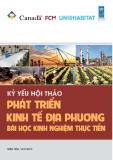 Kỷ yếu hội thảo Phát triển kinh tế địa phương: Bài học kinh nghiệm thực tiễn