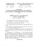 Dự thảo Nghị quyết Về việc quy định mức hỗ trợ đóng bảo hiểm y tế cho người thuộc hộ gia đình cận nghèo và người bị bệnh phong trên địa bàn thành phố Hà Nội