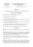 Quyết định số 73/2017/QĐ-UBND tỉnh Nghệ An