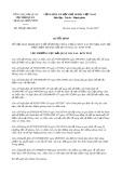Quyết định số 298/QĐ-HQGLKT năm 2017