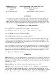 Quyết định số 65/2017/QĐ-UBND tỉnh Bình Định
