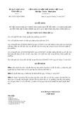 Quyết định số 35/2017/QĐ-UBND tỉnh Sơn La
