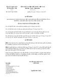 Quyết định số 29/2017/QĐ-UBND tỉnh Quảng Trị
