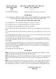 Quyết định số 100/2017/QĐ-UBND