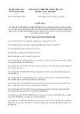 Quyết định số 133/2017/QĐ-UBND