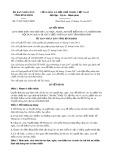 Quyết định số 71/2017/QĐ-UBND tỉnh Bình Định