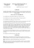 Quyết định số 33/2017/QĐ-UBND
