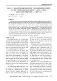 Quản lý nhà nước đối với ngành tài nguyên thiên nhiên và môi trường bằng các công cụ kinh tế (EIS): Kinh nghiệm thế giới và Việt Nam