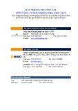 Bản thông tin tóm tắt Tổng Công ty Hàng không Việt Nam - CTCP