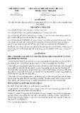 Quyết định số 1905/QĐ-TTg năm 2017