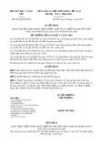 Quyết định số 4591/QĐ-BGDĐT