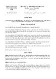 Quyết định số 2877/QĐ-UBND tỉnh Thừa Thiên Huế