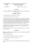 Quyết định số 1925/QĐ-TTg