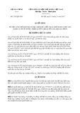 Quyết định số 2362/QĐ-BTC