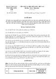 Quyết định số 2851/QĐ-UBND tỉnh Thừa Thiên Huế