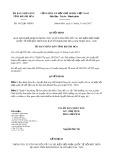 Quyết định số 3412/QĐ-UBND tỉnh Khánh Hòa