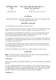 Quyết định số 2012/QĐ-TTg năm 2017