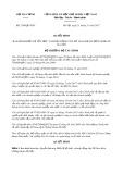 Quyết định số 2398/QĐ-BTC