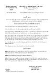 Quyết định số 6386/QĐ-UBND