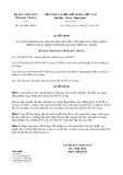 Quyết định số 3217/QĐ-UBND