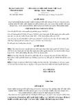 Quyết định số 4604/QĐ-UBND