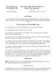 Quyết định số 8051/QĐ-UBND