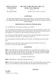 Quyết định số 2290/QĐ-UBND