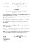 Quyết định số 2353/QĐ-BTC