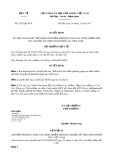 Quyết định số 5292/QĐ-BYT năm 2017