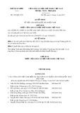 Quyết định số 2332/QĐ-CTN