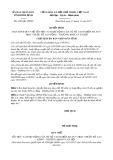 Quyết định số 4289/QĐ-UBND