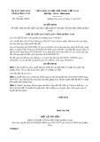 Quyết định số 3904/QĐ-UBND