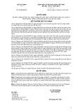 Quyết định số 2378/QĐ-BTC