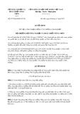 Quyết định số 4572/QĐ-BNN-TCLN
