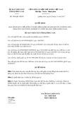 Quyết định số 3890/QĐ-UBND