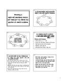 Bài giảng Quản trị chất lượng - Chương 4: Một số phương pháp, kỹ thuật và công cụ quản lý chất lượng
