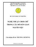 Đề tài nghiên cứu khoa học ngành Lý luận văn hóa: Nghệ thuật chơi chữ trong câu đố dân gian người Việt