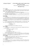 Đề thi chọn HSG lớp 12 môn Hóa học năm 2017-2018 – Sở GD&ĐT Vĩnh Phúc
