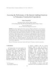 Assessing the performance of the internal auditing functions in Vietnamese construction corporations