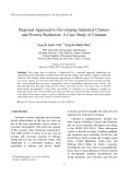 Regional approach to developing industrial clusters and poverty reduction: A case study of Vietnam