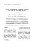 Mối quan hệ trong hoạt động nhượng quyền thương mại lĩnh vực ăn uống - giải khát tại Việt Nam
