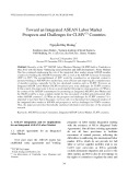 Toward an integrated ASEAN labor market prospects and challenges for CLMV countries