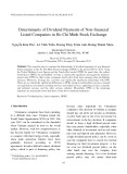 Determinants of dividend payments of non-financial listed companies in Ho Chi Minh stock exchange