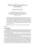 Tóm tắt Luận văn Thạc sĩ Lý luận văn học: Văn hóa Ấn Độ trong sáng tác của Hồ Anh Thái